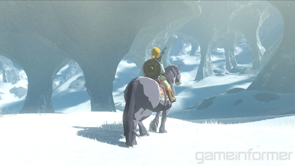 Zelda Horse snow Breath of Wild