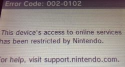 Nintendo 3DS Ban Wave