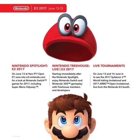 Nintendo unveils its E3 2017 plans, highlighting Super Mario Odyssey