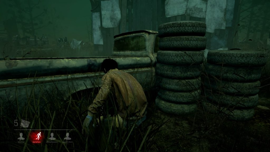 goal to escape the arena of death they find themselves in. It's a four vs one arena game but with serial killers and helpless victims with no weapons, or means of attack. This is our Dead By Daylight PS4 Review.