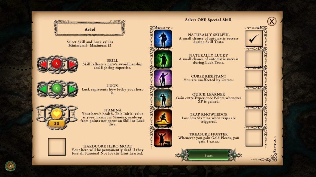 Hardcore permanent skill order