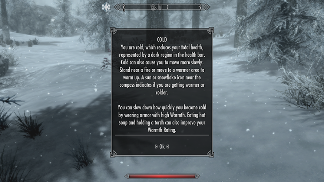Skyrim Survival Mode Will Challenge Even The Most Hardcore Player