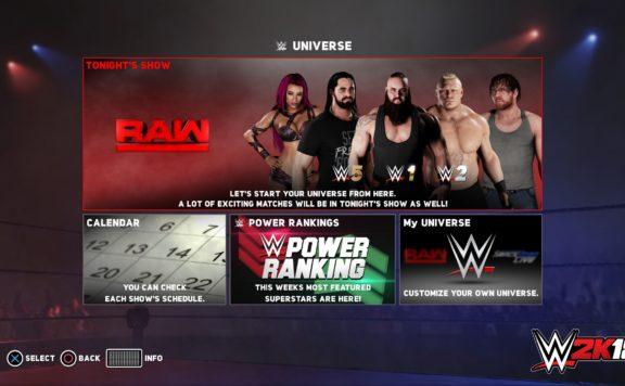 WWE 2K18 Universe Mode