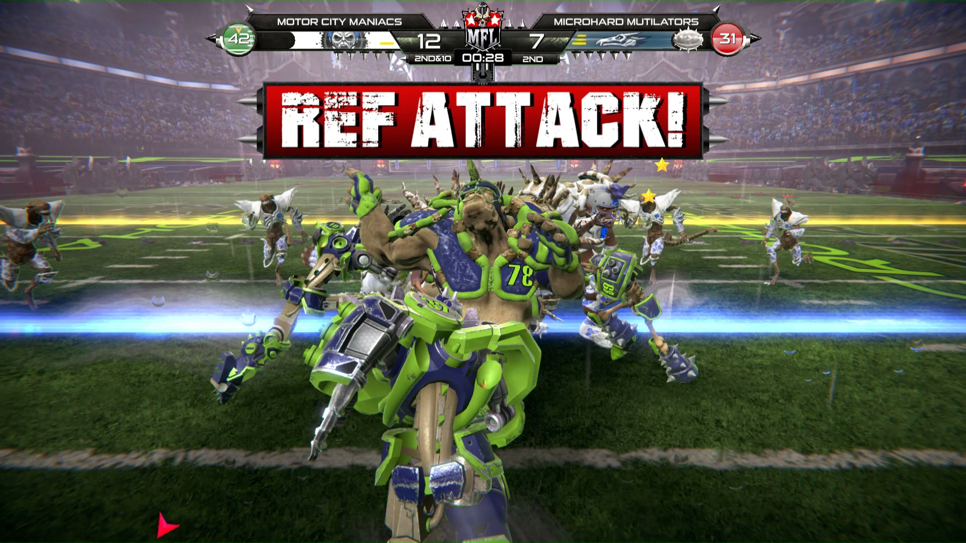 Mutant Football League Where Your First Down May Be Your Last