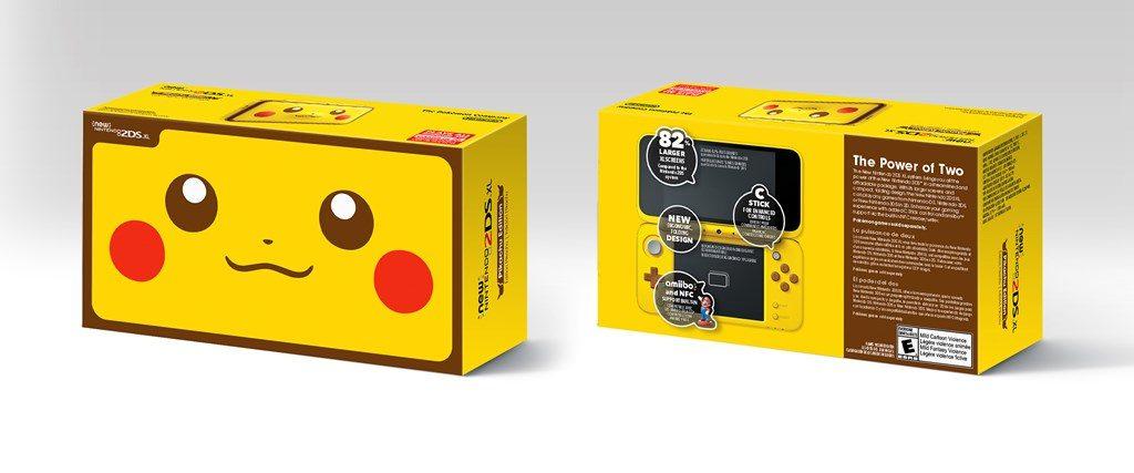 New 2DS XL Pikachu Packaging