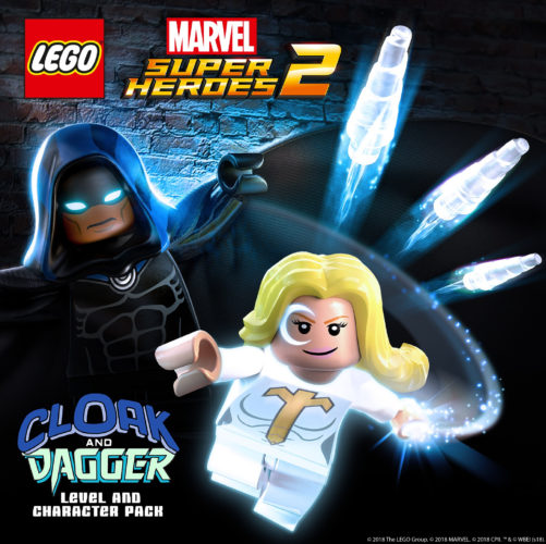 Lego Marvel Super Heroes 2 Cloak & Dagger DLC pack Artwork