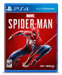 Spider-man PS4 Box Art