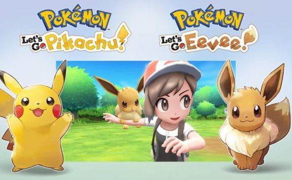 Nintendo Switch Pokemon Let's Go Pikachu & Let's Go Eevee
