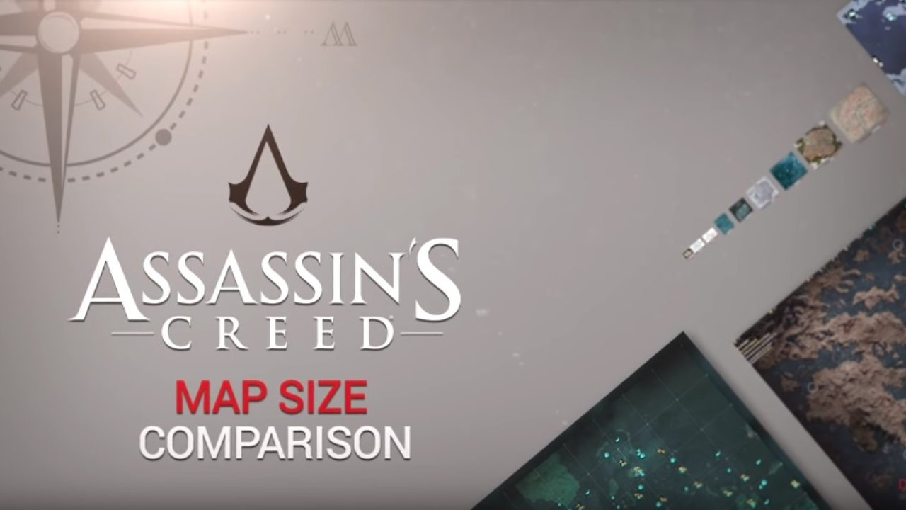 Assassin S Creed Maps Size Comparison Including Odyssey