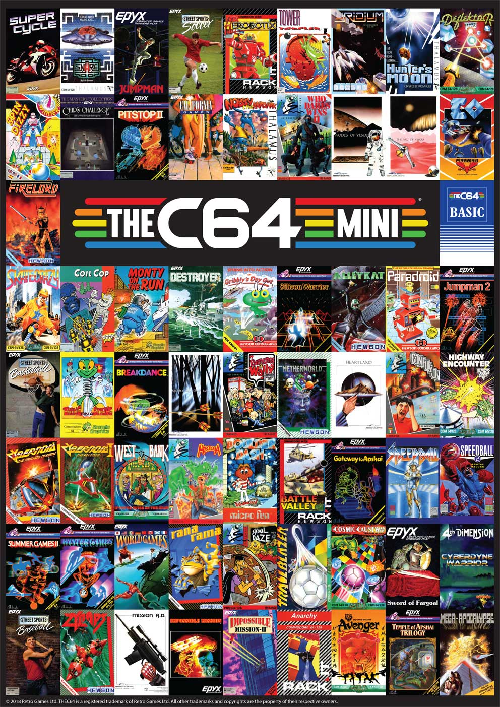 THEC64 games collage