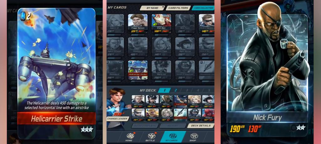 Marvel Battle Lines Cards