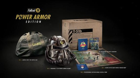 Fallout 76 Power Armor Edition Canvas Nylon Bag