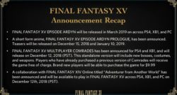 Final Fantasy XV DLC Cancelled Hajime Tabata