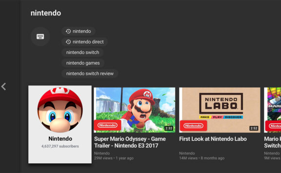 Nintendo Switch Youtube App