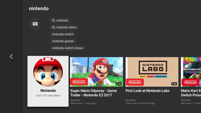 Nintendo Switch Youtube App