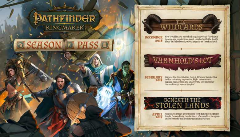 Pathfinder Kingmaker DLC Wildcards Varnhold's Lot Beneath the Stolen Lands Season Pass