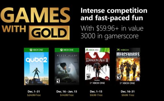 Xbox Live Games with Gold December 2018