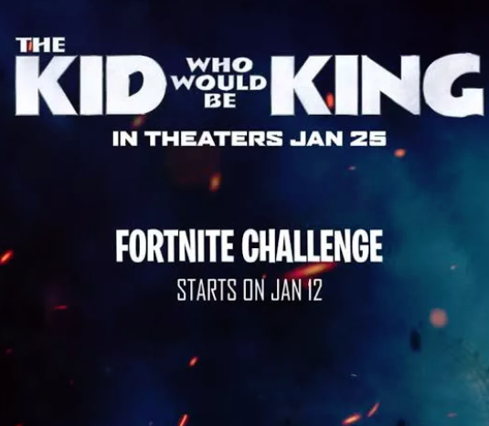 The Kid Who Would Be King Fortnite Challenge
