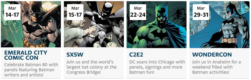 Batman 80 Years Conventions
