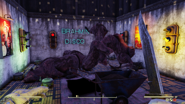 Fallout 76 - You Have to See Brahmin Disco & Deathclaw Maze
