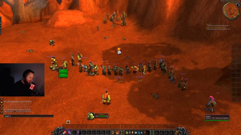 World of Warcraft Classic players queuing up for quests