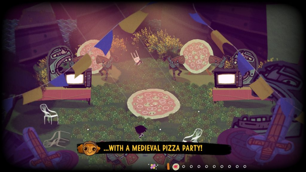 Knights and Bikes Review Pizza Party