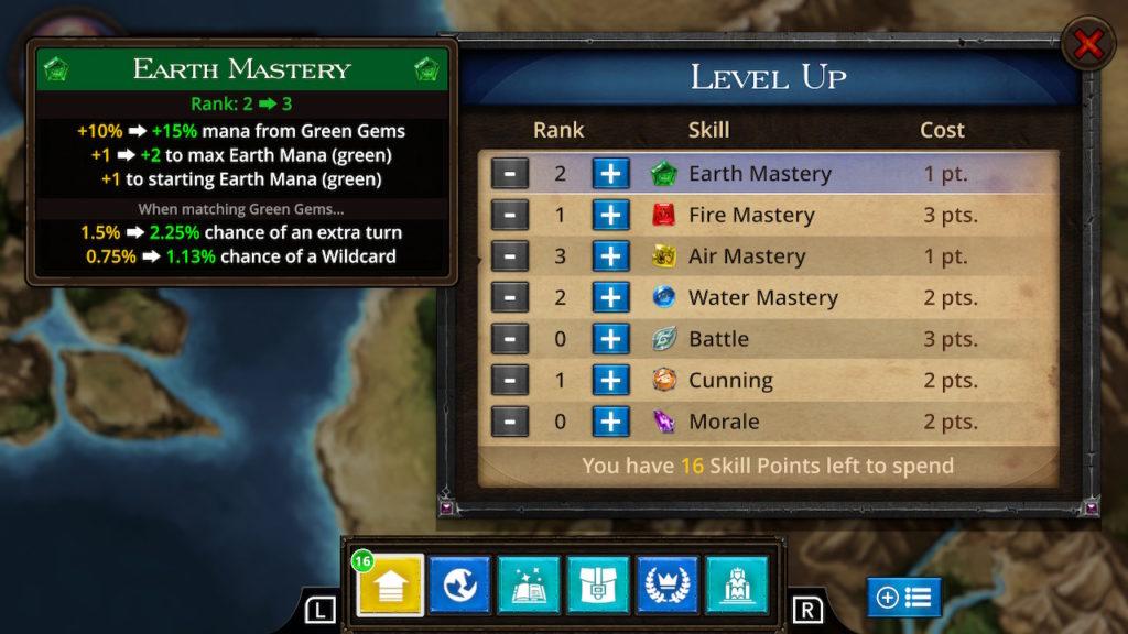 Puzzle Quest - The Legend Returns Level Up