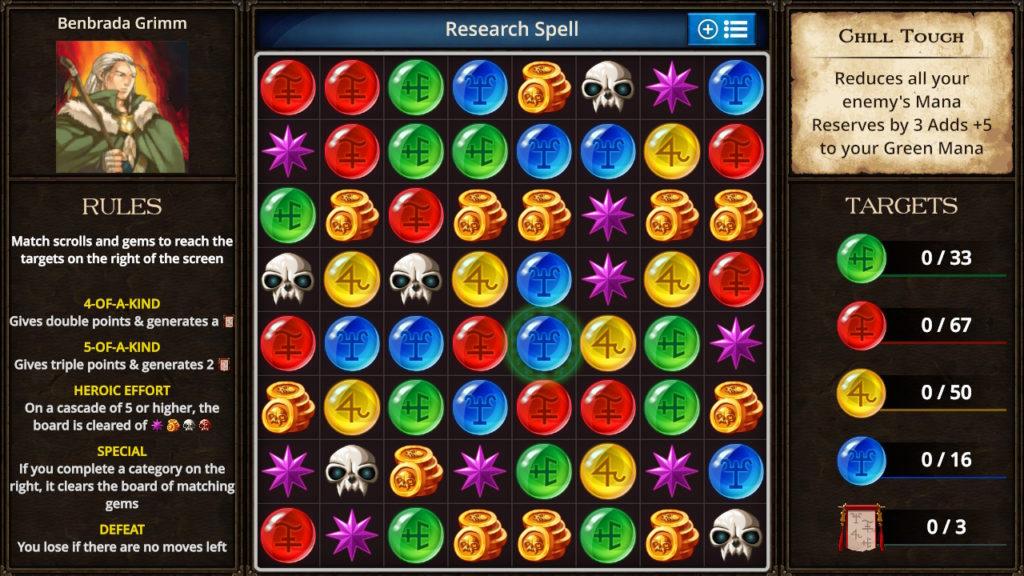 Puzzle Quest - The Legend Returns Mini-Game