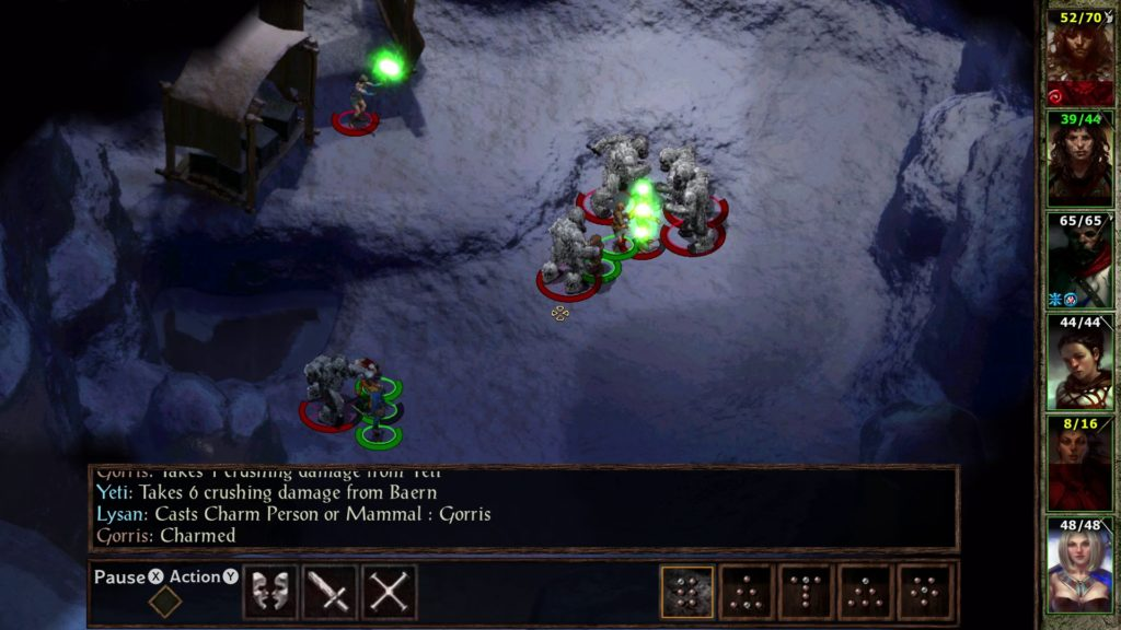 Icewind Dale Yetis Screen