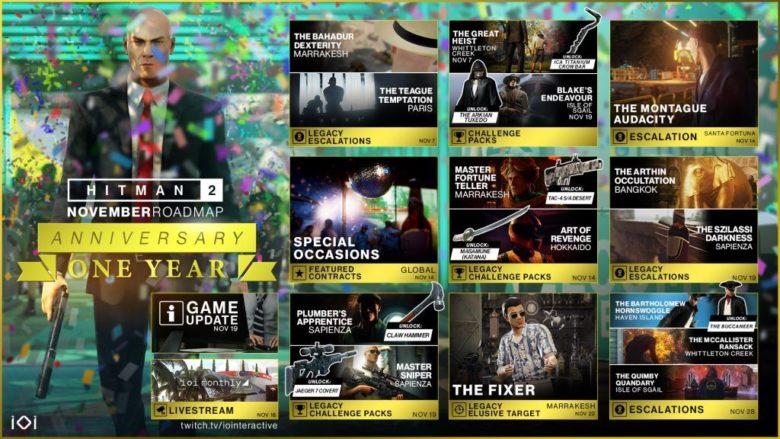 Hitman 2 Celebrates One Year Anniversary