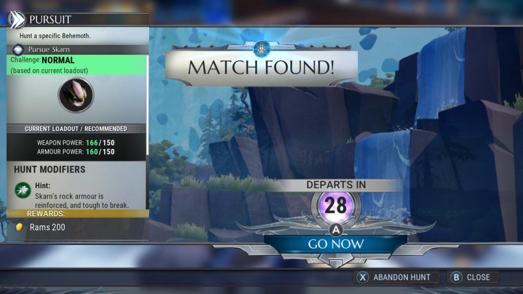 Dauntless Match Found