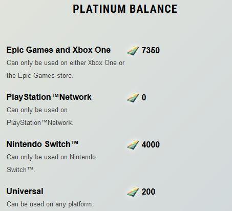 Dauntless Platinum Balance