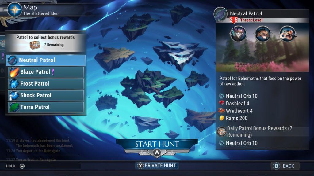 Dauntless Start The Hunt