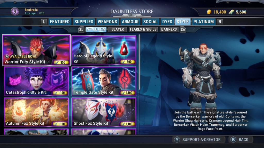 Dauntless Store