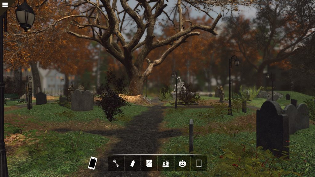 A view of the Salem graveyard.