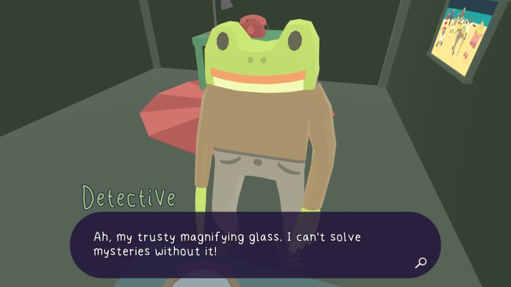 The magnifying glass.