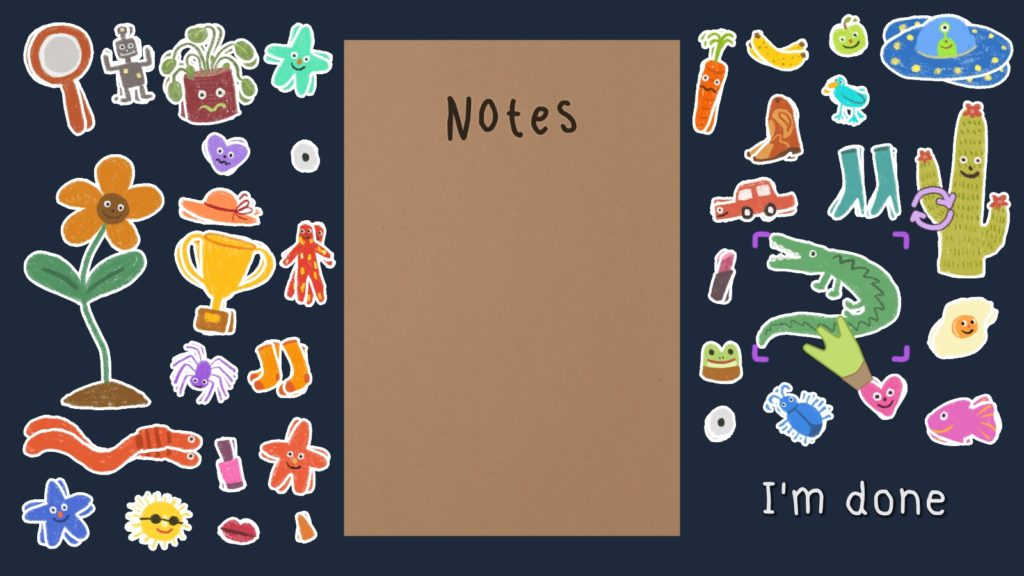 Notes and stickers.