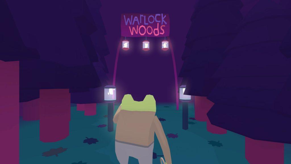Frog Detective enters Warlock Woods.