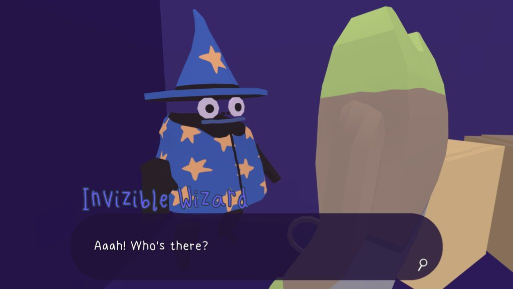 The invisible wizard is revealed.