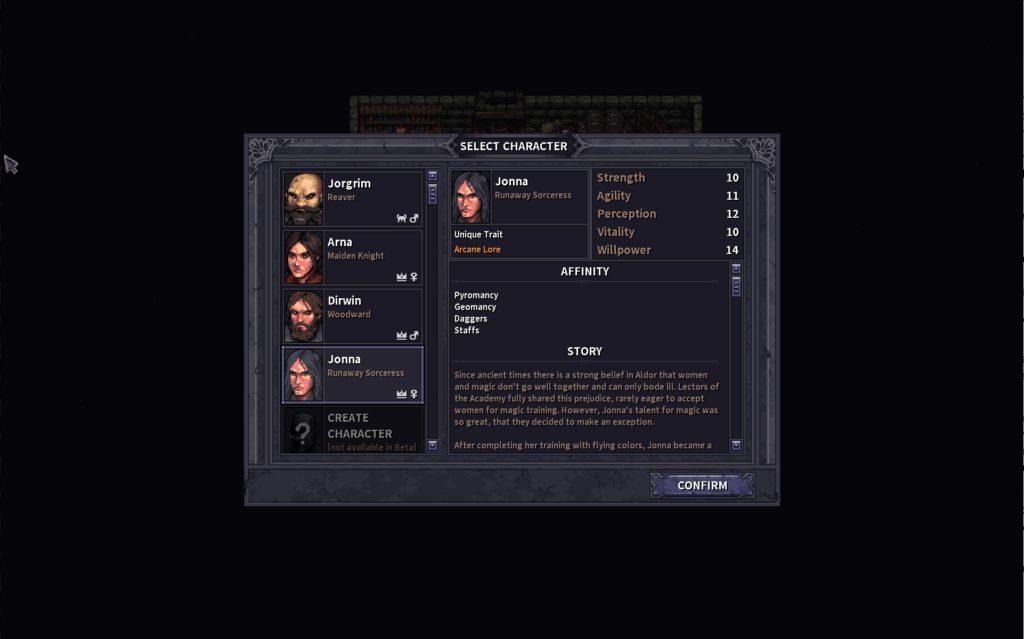 StoneShard Characters