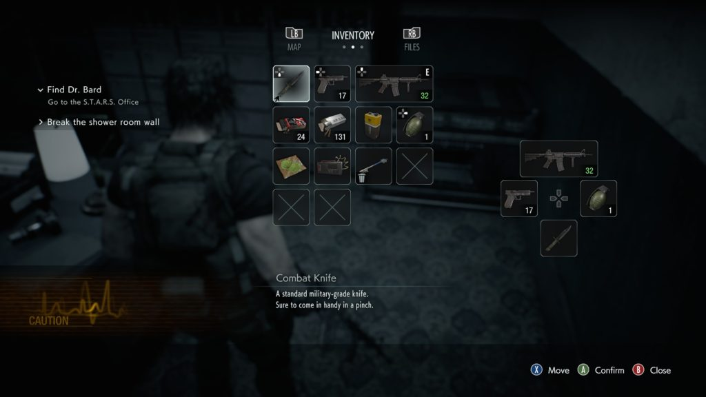Resident Evil 3 Review Inventory