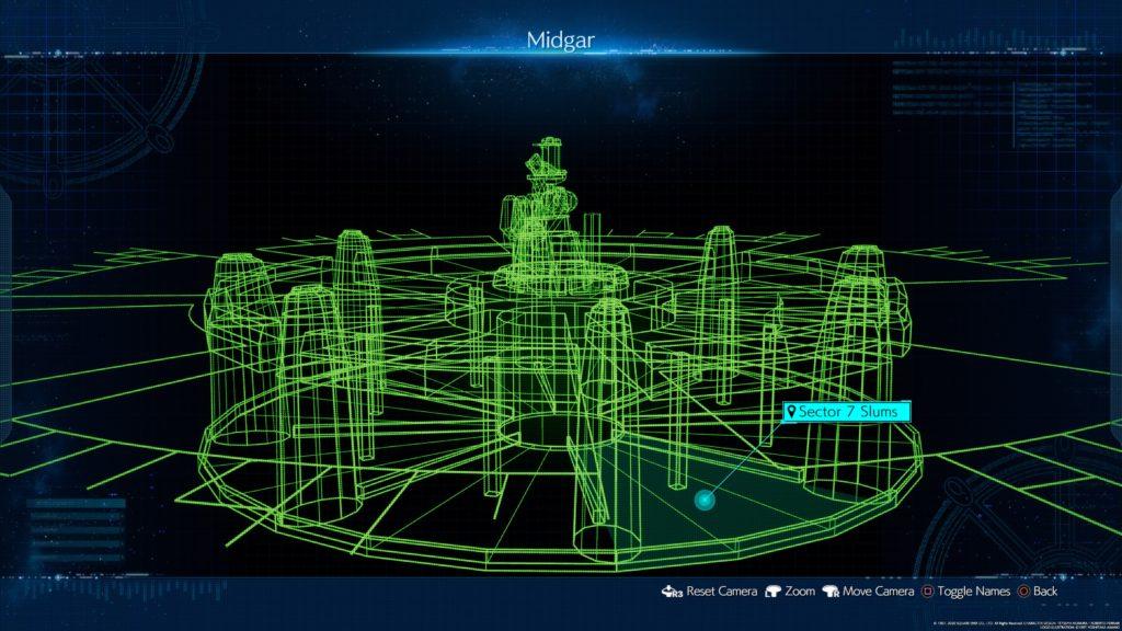 FFVII Remake 3D Map