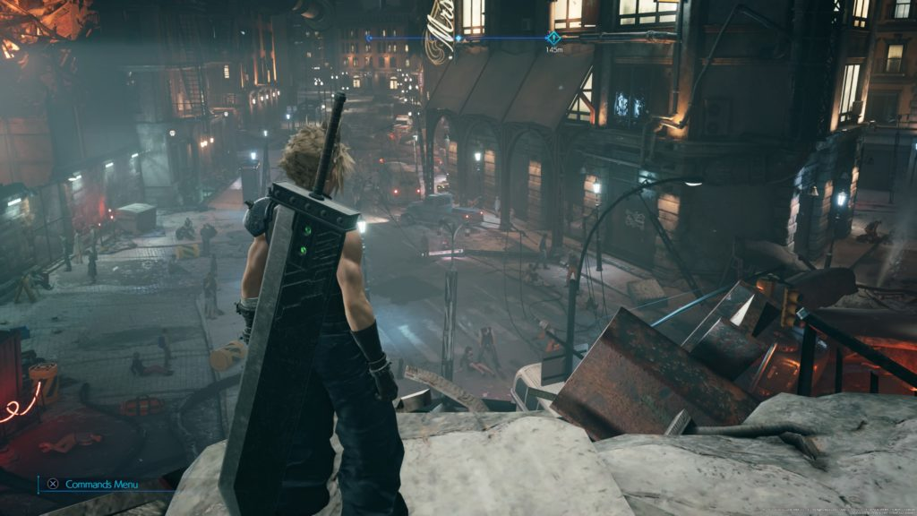 FINAL FANTASY VII REMAKE Looking Down