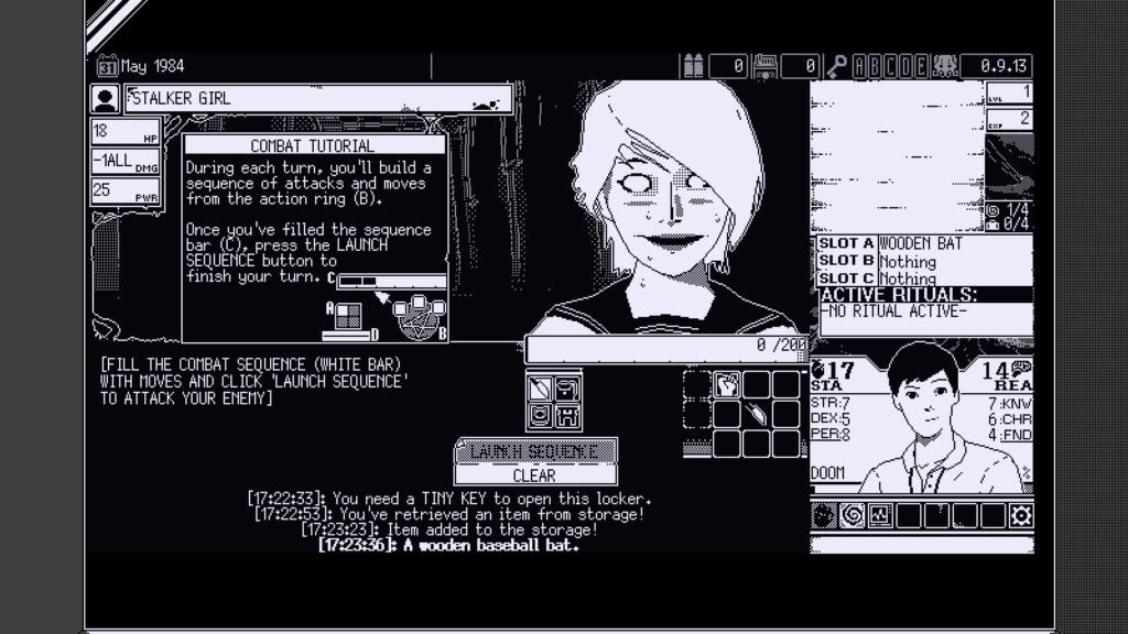 World of Horror Stalker Girl