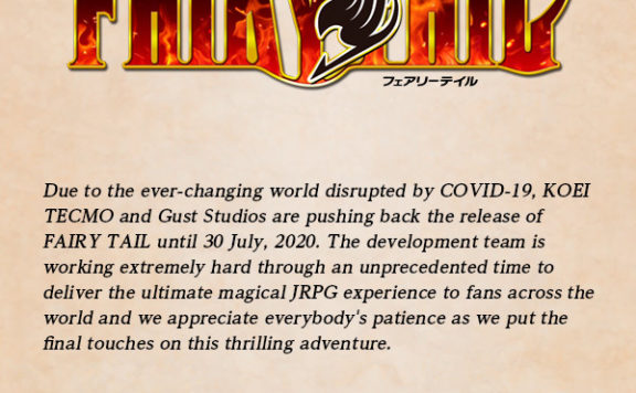 Fairy Tail Release Pushed Back to Late July