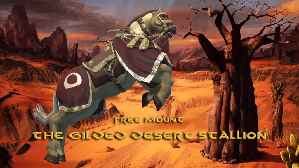 Gilded Desert Stallion Mount