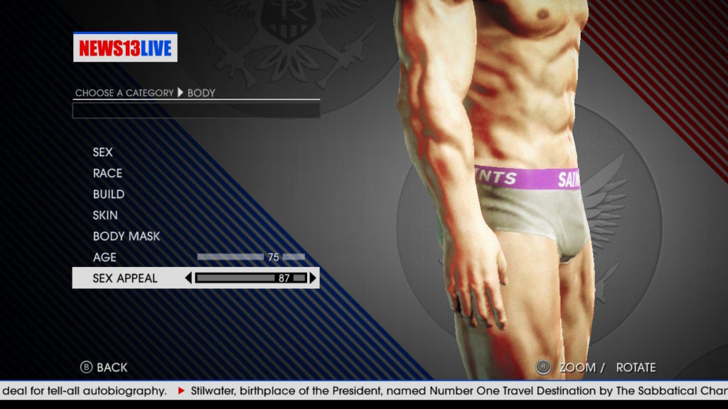 Saints Row IV Bulge setting