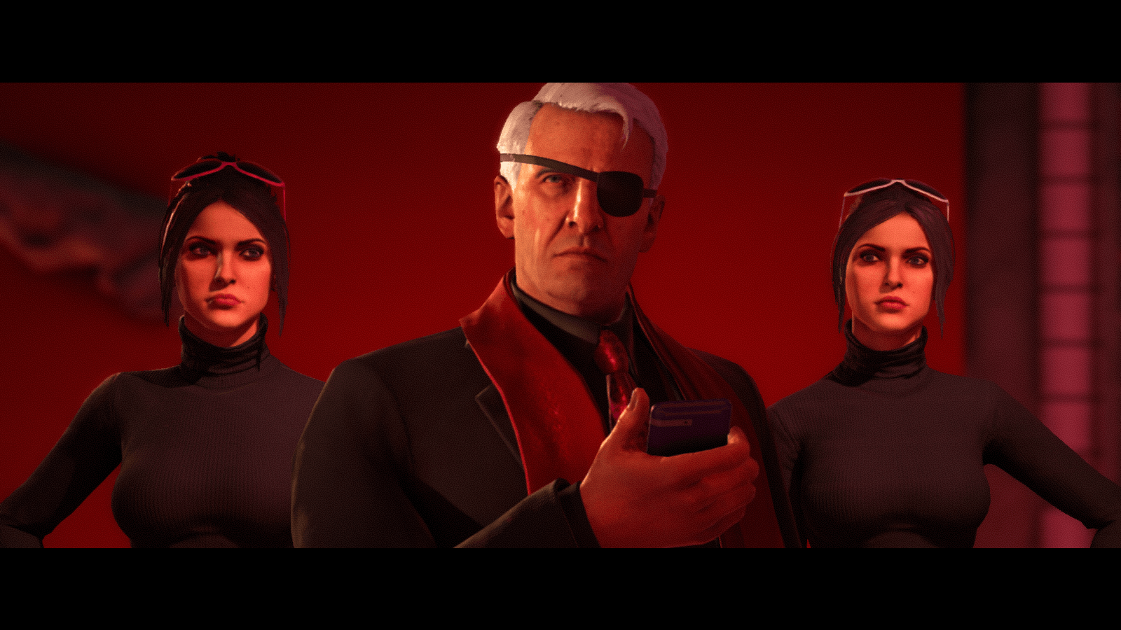 The Syndicate looks concerned in Saints Row the Third.