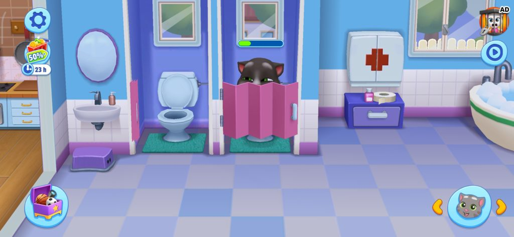 talking tom toilet