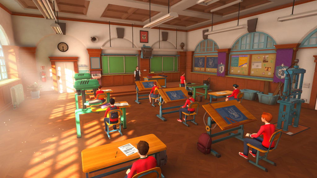 the academy the first riddle classroom